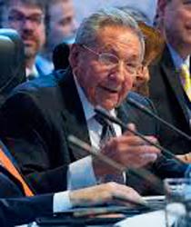 Raul Castro en La Cumbre de las Américas.  foto: cubadebate.cu
