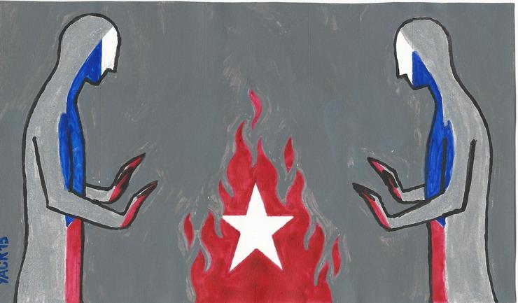 Contra la oscuridad y el frio. Ilustración por Yasser Castellanos