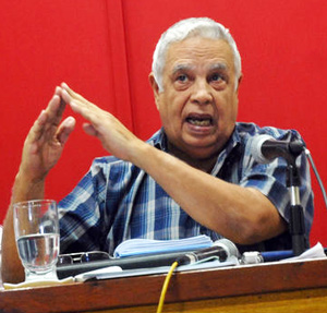 Rolando Alfonso Borges, jefe del Departamento Ideologico del Partido Comunista que dirige prensa y cultura en Cuba.
