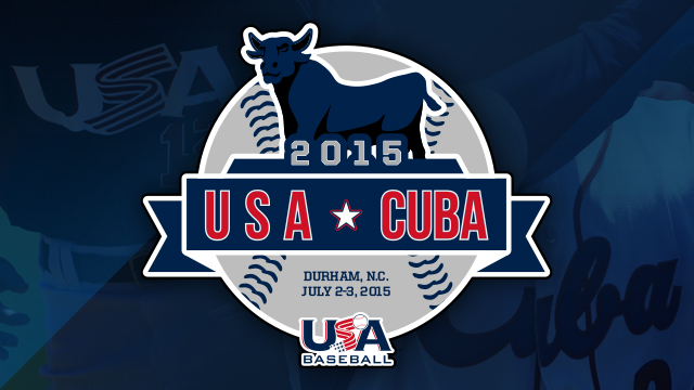 US and Cuban baseball teams will play exhibition games in Durham, North Carolina this coming July.