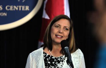 Josefina Vidal en conferencia de prensa en Washington. Foto: Ismael Francisco/ Cubadebate