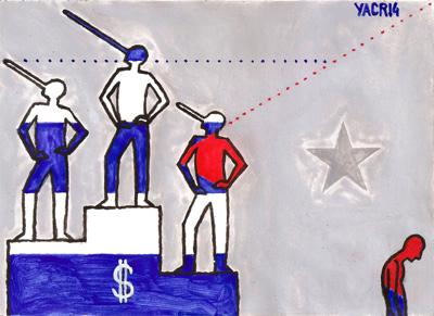 De la serie pensando en Cuba. Illustración por Yasser Castellanos.