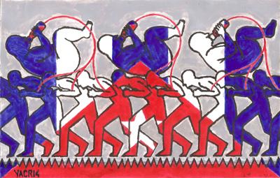 De la serie pensando en Cuba.  Illustración por Yasser Castellanos