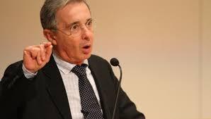 El ex presidente colombiano Álvaro Uribe.  Foto: telesurtv.net