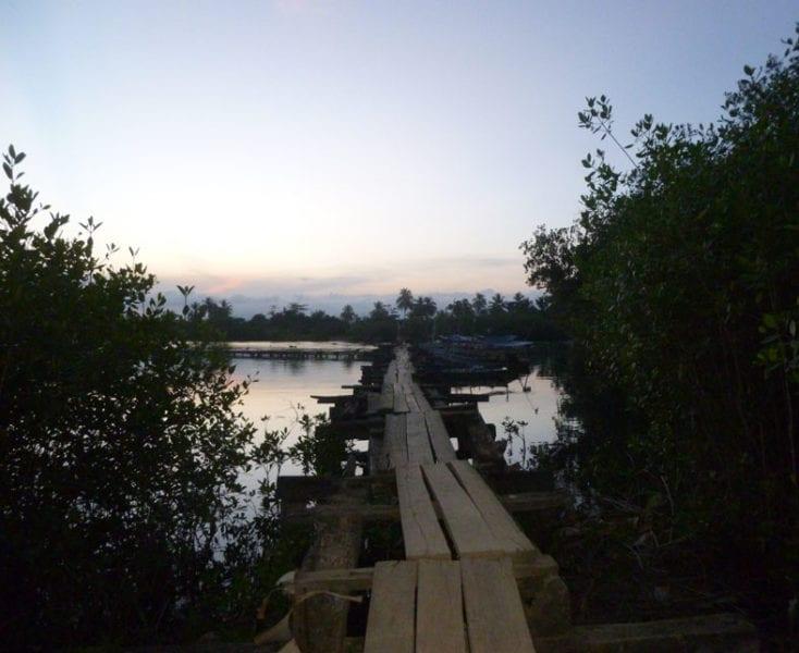 Puente sobre el rio Miel.