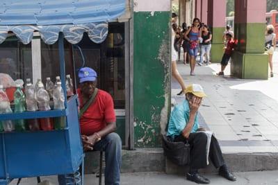 Vendedor de granizado.  Foto: Juan Suárez