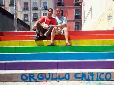 Isbel y Jimmy en Lavapies, Madrid