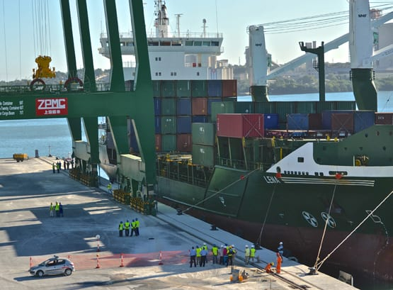 Odebrecht, encargado de la expansión del puerto de Mariel, Cuba.  Foto: odebrecht.com