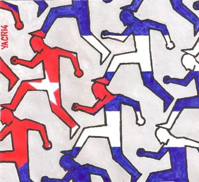Al projimo como a ti mismo.  Ilustración por Yasser Castellanos