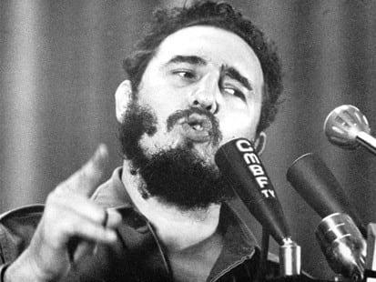 Fidel Castro hablando del monstruo imperialista.