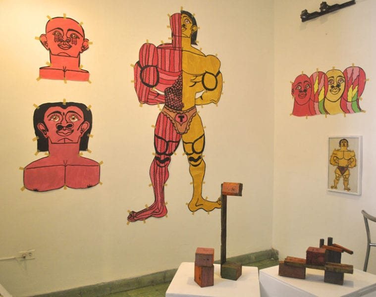 Dibujos de Misleidis y esculturas de Ope