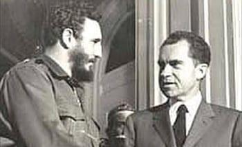 Fidel Castro y Richard Nixon  en Abril 1959.