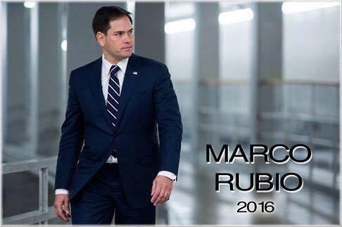 Marco Rubio in a Facebook campaign photo.