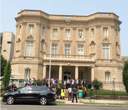 La nueva embajada de Cuba en Washington.  Foto: radioreloj.cu