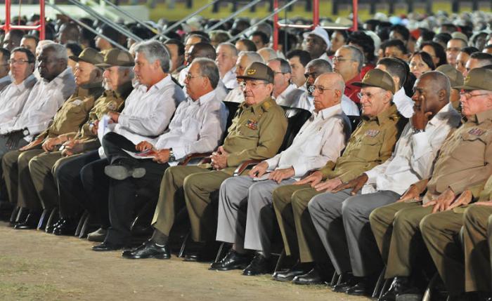 Los dirigentes de la Revolución cubana.