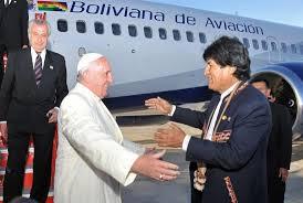 El papa Francisco y Evo Morales en Bolivia.