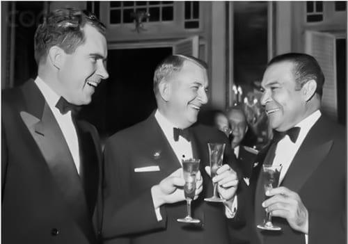 Nixon con Batista. Pocos países de América Latina eran tan dependientes de los EEUU como lo fueron los cubanos.