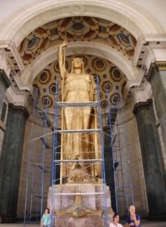 La cubierta de oro de la Estatua de la República pudo recuperarse.