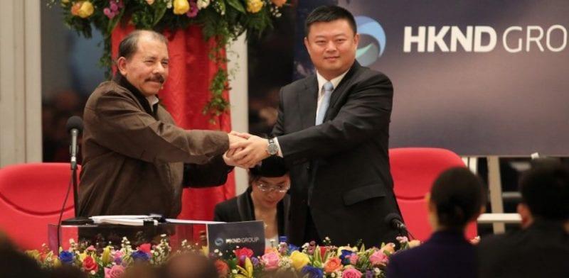 Daniel Ortega y Wang Jing. Foto: confidencial.com.ni