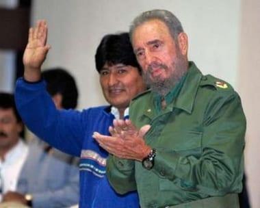 Evo Morales y Fidel Castro back in September, 2006.  Foto: cubadebate.cu