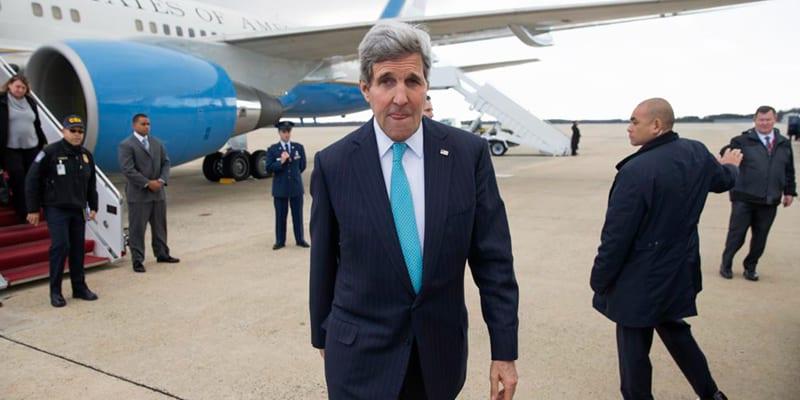 John Kerry llegando a La Habana.