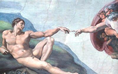 Miguelangelo, La creación del hombre.
