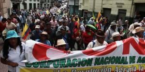 Marcha llega a Quito.  Foto: radiohuancavilca.com.ec