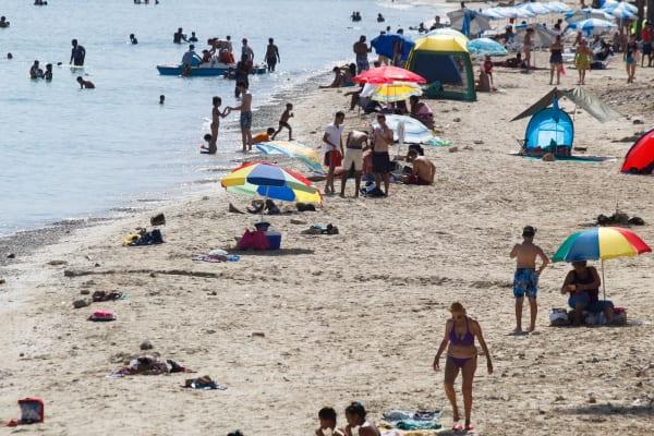 Playa en Guanabo en Habana del Este.  Foto: Juan Suarez