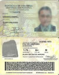 cedula colombiana
