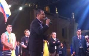 Rafael Correa estuvo contento con lo que considera una huelga fracasada.