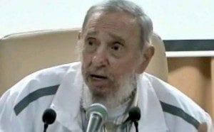Fidel Castro en su último apariencia en público en julio de 2015.