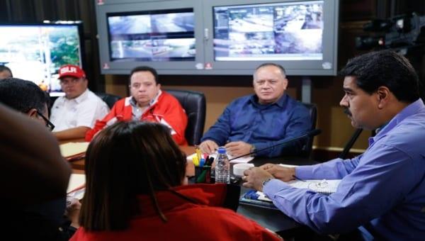Nicolás Maduro anunciando el estado de excepción para Tachira. Foto: AVN