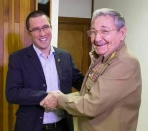 Jorge Arreaza y Raúl Chávez