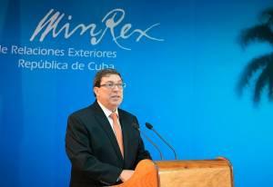 El canciller cubano Bruno Rodríguez.  Foto: Raquel Pérez Díaz