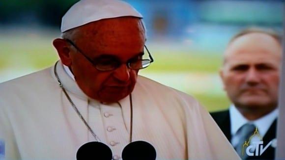 El Papa pronunció un discurso al llegar a Cuba.