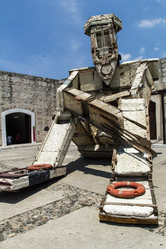 Obra en el reciente Bienal de La Habana. Foto: Juan Suárez