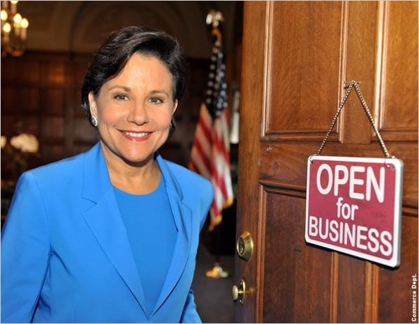 The US Secretary of Commerce Penny Pritzker