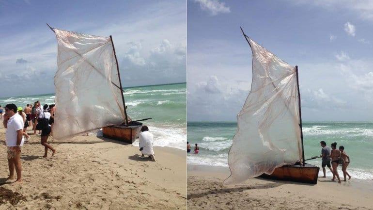 Doce cubanos arribaron a Miami Beach y disfrutarán del Ley de Ajuste Cubano.
