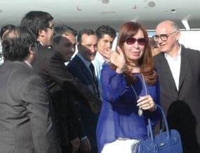 Cristina Fernandez llegando a La Habana. Foto: Manuel Moñoa/PL