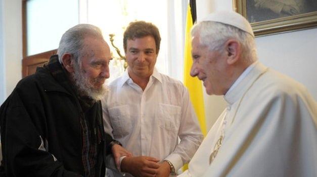 Fidel Castro con Benedicto XVI durante su visita a Cuba en el 2012.