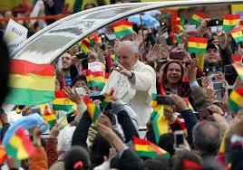 El papa Francisco en su reciente viaje a Bolivia. Foto: mv.gob.ve