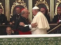 El papa Francisco y el cardenal Jaime Ortega en la Catedral de La Habana el domingo 20 de septiembre.  Foto: radiorebelde.cu