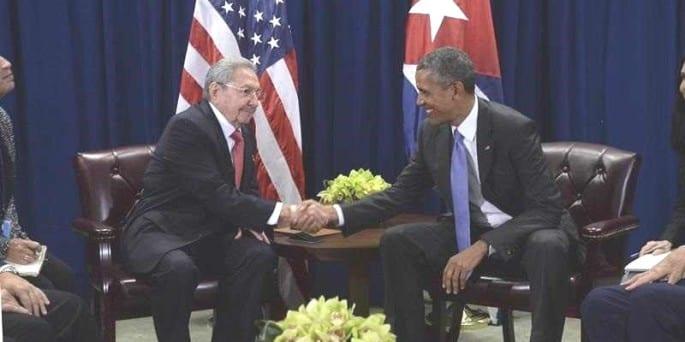 Raúl Castro y Barack Obama se reunieron en la mañana del martes.