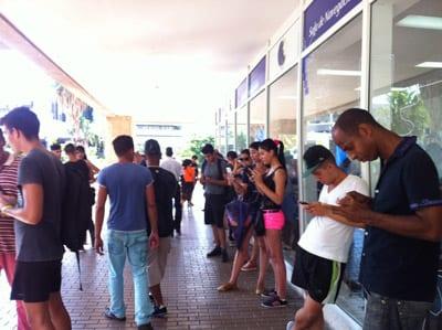 Por el Centro de negoicios de Miramar.