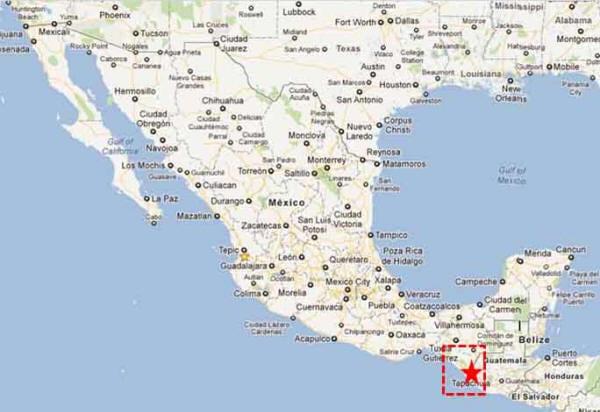Tapachula, Chiapas, México.  Mapa: wikipedia.net