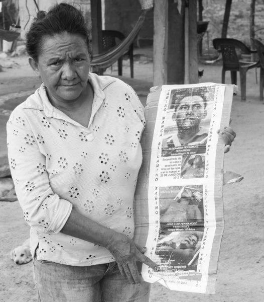 """Cacica Carmen Fernández """"anita"""", luchadora yukpa-wayúu a la que le han asesinado 3 hijos en la lucha por la tierra en la Sierra de Perijá."""