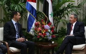 Bashar Al Assad y Raúl Castro. Foto: cubadebate.cu