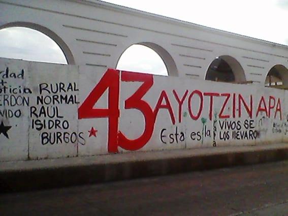 Lucha por el regreso de normalistas de ayotzinapa