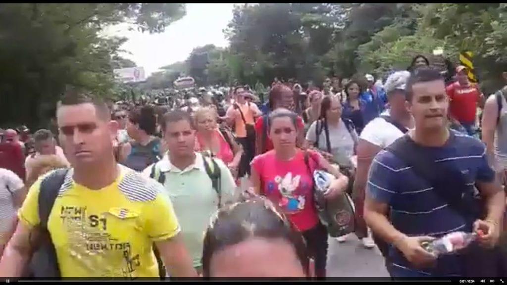 Cubanos rechazados por Daniel Ortega y el gobireno de Nicaragua. Foto: confidencial.com.ni