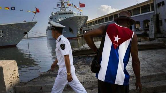 Naves de guerra chinos en La Habana.  Foto: cubadebate.cu